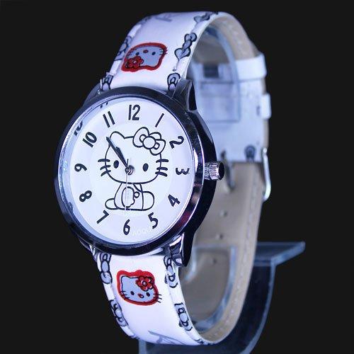Hello Kitty White Wrist Watch + Promo Hello Kitty Charm