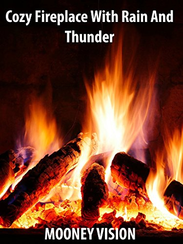 Cozy Fireplace With Rain And Thunder