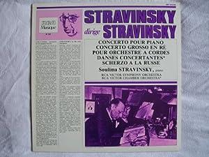 GM 43336 IGOR / SOULIMA STRAVINSKY Concerto Pour Piano etc LP