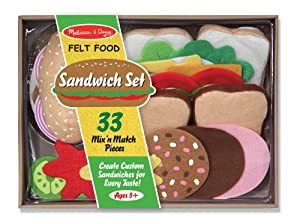 Amazon Com Melissa Amp Doug Felt Food Sandwich Set