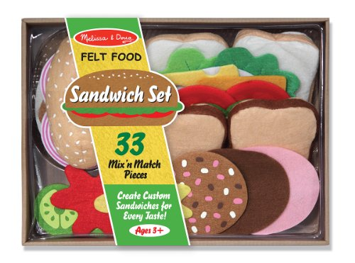 518XUdmMnvL Cheap Price Melissa & Doug Felt Food   Sandwich Set