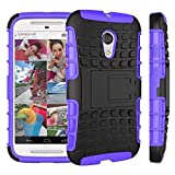 Moto G Case, Motorola G (2nd Generation) Case, Sophia Shop Dual Layer Drop Protection Design 2 in 1 Moto G (2nd Gen.) Case, Black Hard Cover Combine Multi-color Option TPU Soft Gel Middle Bumper Premium Slim Fit Impact Resistant Protective Armor Rugged Hard Moto G (2nd Gen.) Case, Heavy Duty Tough Rugged Dual Layer Case, Tire Series Armor Defender Protective Tough Dual Layer Protection Case ONLY for Moto G (2nd Gen.) Case Toughbox Carrier Compatibility At&t, Verizon, T-mobile, Sprint, and All International Carriers (Purple)