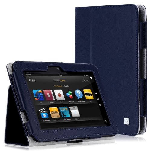CaseCrown Bold Standby Case (Blue) for Amazon Kindle Fire HD 8.9 Inch (Built-in magnet for sleep / wake feature)