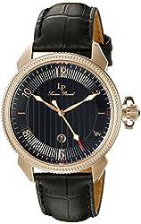 Lucien Piccard Men's LP-40053-RG-01 Trevi Analog Display Quartz Black Watch