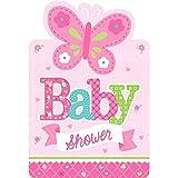 Amscan 491458Bienvenido Baby Girl invitaciones
