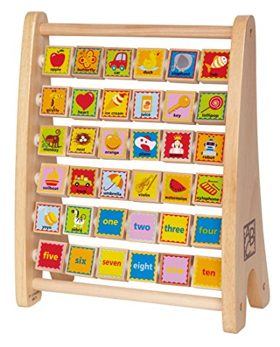 Hape-Early-Explorer-Alphabet-Abacus-Wooden-Counting-Toy