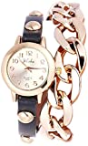 EBI Yilisha Rose Golden Black Bracelet Watch For Women