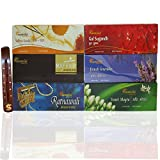Aromatika® Perfumed Incense Sticks (Agarbatti) Combo Pack Of 6 - Saffron Sandal, Gul Sugandh, Ratnawali, French...