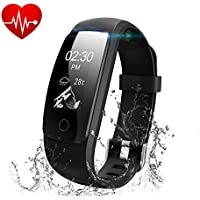 Runme Waterproof Smart Sport Fitness Tracker with Heart Rate & Sleep Monitor