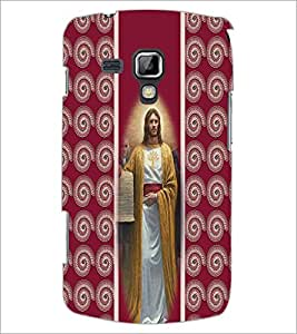 PrintDhaba Jesus D-2751 Back Case Cover for SAMSUNG GALAXY S DUOS S7562 (Multi-Coloured)