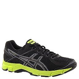 ASICS GT 1000 4 GS Running Shoe (Little Kid/Big Kid), Black/Onyx/Flash Yellow, 3 M US Little Kid