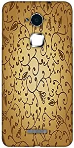 Snoogg abstract seamless texture with fish Hard Back Case Cover Shield For Coolpad Note 3 (White, 16GB)