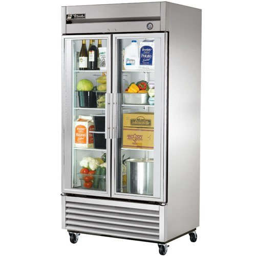 True Mfg T-35G, 2 Door, 35 cu ft Glass Door Refrigerator (Glass Front Door Refrigerator compare prices)