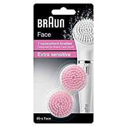 Braun Face 80S Extra Sensitive Brush Refills (Multicolor, Pack of 2)