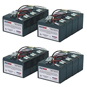 RBC12 Replacement UPS Battery Set for APC Smart UPS 5000 SU5000TXFMR