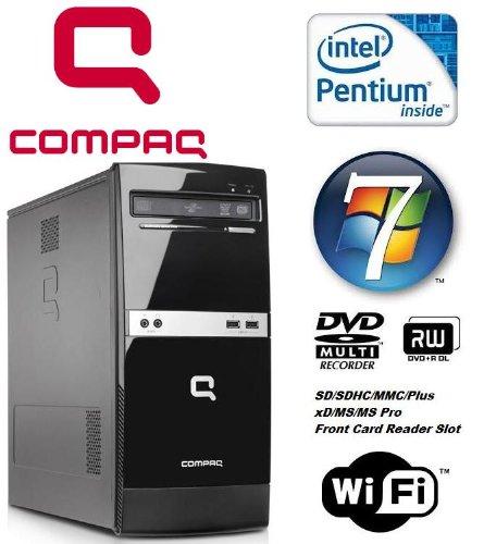 Windows 7 - Compaq B500 MT Powerful Dual Core Wi-Fi Enabled Desktop Computer - Intel Pentium Dual Core E5300 2.6GHz Processor - 320GB Hard Drive - 4GB Memory - DVD Writer - Smart Card Reader