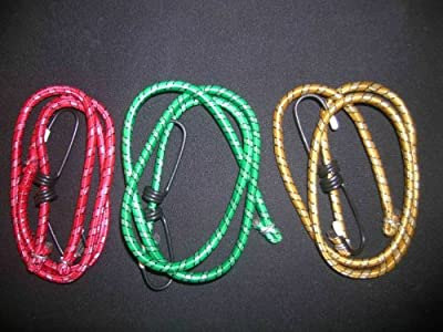 3x Elastic 100cm luggage bungee golf rope cord straps hooks stretch tie car bike from SystemsEleven