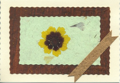 Blank Handmade Note Card; Spring Greeting Card;