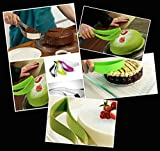 Ga Gadgets® Green Silicone Level Cutting Cake / Pie Slicer