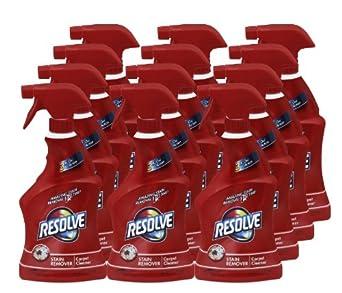 Resolve Triple Oxi Carpet Stain Remover, Trigger Dispenser Bottle, 22 Ounces (Case of 12)