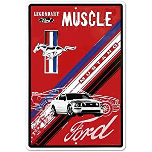 Amazon.com: Ford Mustang Legendary Muscle Car Retro Vintage Tin Sign