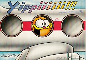 Amazon.com : Vintage Used Postcard Garfield Jim Davis Airplane Ride