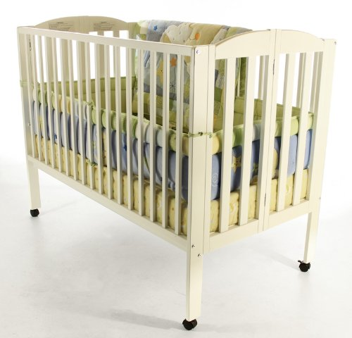 Find Cheap Dream On Me Full Size 2 in 1 Folding Stationary Side Crib, White
