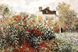 Claude Monet The Artists Garden Art Print Poster - 24x36 Art Poster Print by Claude Monet, 36x27