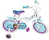 Stamp-Rn240027se-Kinder-Fahrrad-407-cm-16-Zoll-Design-Die-Eisknigin-Stahl-Rahmen-aufblasbare-Reifen-Sttzrder-Schutzbleche-Vorder-und-Hinterradbremse