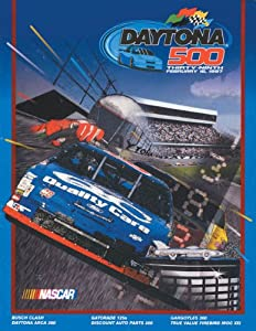NASCAR Canvas 36 x 48 Daytona 500 Program Print Race Year: 39th Annual - 1997 by Mounted Memories