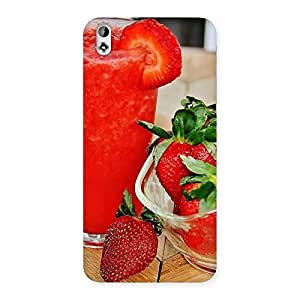 Stylish Straberry Juice Multicolor Back Case Cover for HTC Desire 816s
