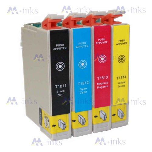 4 Druckerpatronen XP305 XP 305 XP-305 XP315 XP 315 XP-315 Kompatibel für Epson T1811 T1812 T1813 T1814 Tintenpatronen für Expression Home XP-305 XP-315 drucker patronen (1x Schwarz 1x Blau 1x Rot 1x Gelb) -mit CHIP