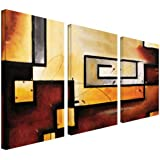 Art Wall 3-Piece Abstract Modern Gallery Wrapped Canvas Art by Jim Morana, 36 by 54-Inch