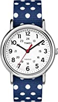 Timex Weekender Analog White Dial Women's Watch with reversible strap - TW2P660006S