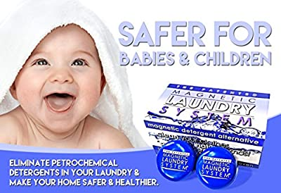 MLS Laundry System - The Green, Non-Toxic, Eco-Friendly, Money Saving, Family Health Protecting, Patented and Proven Magnetic Laundry Detergent Alternative. Safe and All Natural Cleaner, Replaces Chemical Liquid and Powder HE Detergent and Soap, and Helps