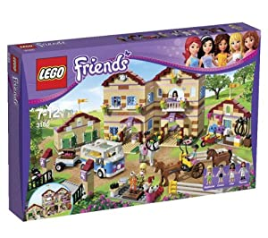LEGO Lego Friends - Summer Riding Camp - 3185 3185 (Spend the summer at the LEGO Friends Summer Riding Camp! Head off to camp with Emma, Stephanie and their friend Ella in the mini-bus, complete with a trailer for bringing everything you need for a summer with horses... )