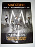 MAROON 5 IT WONT BE SOON BEFORE LONG ORIGINAL 28 X 20 INCHES POSTER