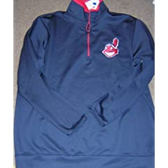 Cleveland Indians Dry Fit 1 4 Zip Pullover Jacket Medium by GPSGIFTGALLERY
