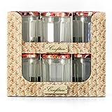 Vetreria Di Borgonovo 518506 - Set di 12 barattoli per marmellata + coperchi, in vetro, 385 ml