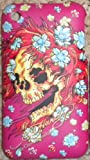PINK SKULL DESIGN ED HARDY HARD CASE BACK COVER FOR IPHONE 3G,3GS