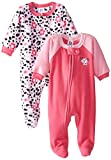Gerber Baby-Girls Newborn Dalmatian 2 Pack Blanket Sleepers, Dalmatian, 18 Months