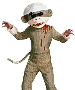Disguise Zombie Sock Monkey Boys Costume