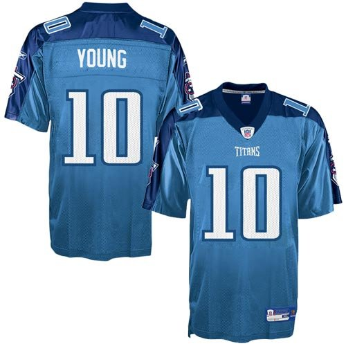 Vince Young Jersey  Reebok Light Blue Replica  10 Tennessee Titans Jersey –  X-Large 249e1c287