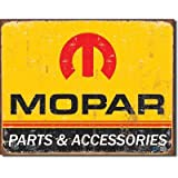 Mopar Parts and Accessories Distressed Retro Vintage Tin Sign