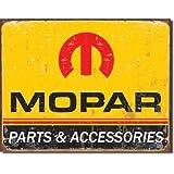 Mopar Parts and Accessories Distressed Retro Vintage Tin Sign