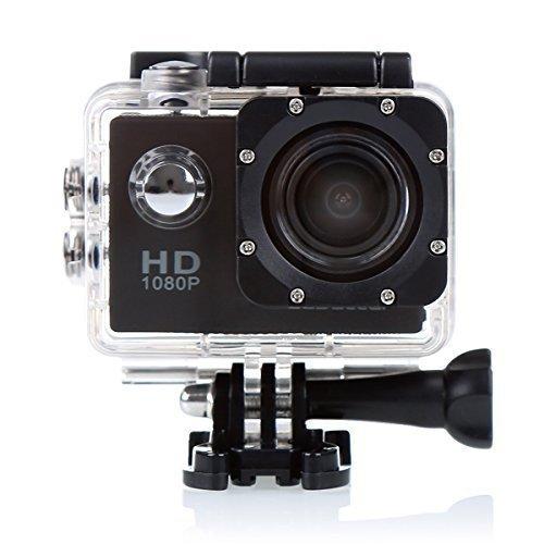 CS710 1080P impermeabile di azione Macchina fotografica del casco della bici con 120 gradi grandangolare 12MP HD registratore dell'automobile DVR Sport acquatico videocamera (Nero)