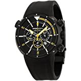 Momo Design Pro Diver Chronograph Black and Yellow Dial Black Ion-plated Stainless Steel Mens Watch MD1005BK51