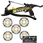 Crossbow Self-Cocking 80 LBS by KingsArchery® with Adjustable Sights and a Total of 123 Aluminim Arrow Bolt Set + KingsArchery® Warranty