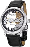Stuhrling Original Men's 841.02 Aristocrat Cardinal Mechanical Bridge Skeleton Black Watch