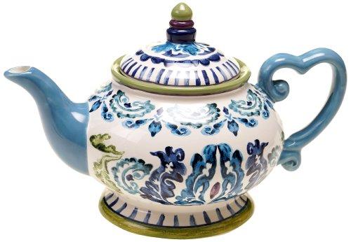 Certified International Mood Indigo Teapot, 32-Ounce